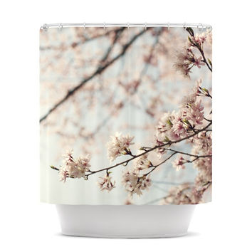 "Catherine McDonald ""Japanese Cherry Blossom"" Shower Curtain"