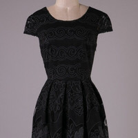Sweetheart Lace Dress - Black