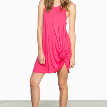 ShopSosie Style : Becca Shift Dress in Fuchsia