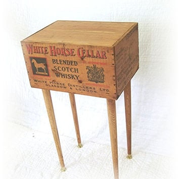 Shipping Crate TABLE White Horse Cellar Blended by MrsRekamepip