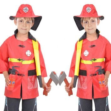 Halloween Firefighter Fireman Costume