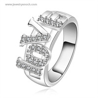 Charming Different Styles Silver Plated Big Love Ring For Girl