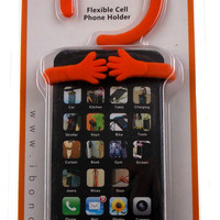 Orange Bondi Hang It On Flexible Cell Phone Holder Note Pad Table Mount Bookmark