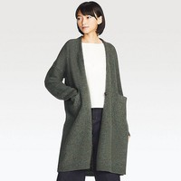 WOMEN MELANGE WOOL COAT