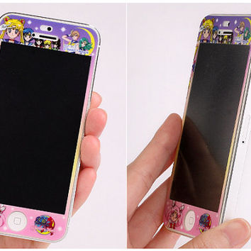 Sailor Moon Screen Protector Sticker For iPhone5 by AmamStore