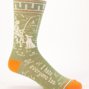 I Hate Everyone Too Men's Crew Socks