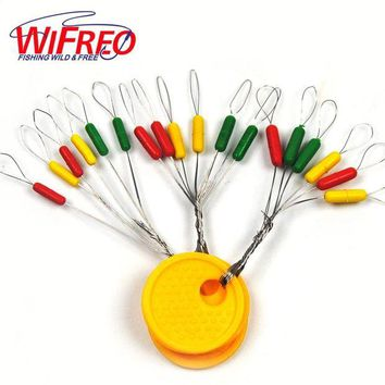 ONETOW [20set=120PCS] Colorful Fishing Space Beans Fishing Floating Seat  Pin Fishing Tackle Fishing Supplies  Size S M L