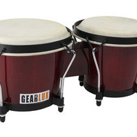 Gearlux Traditional Wooden Bongo Set - Cherry