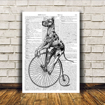 Animal art Dog poster Great dane print Modern decor RTA31