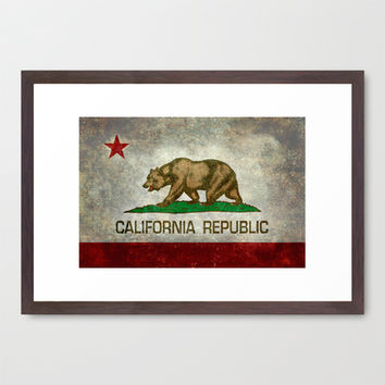 State flag of California Framed Art Print by LonestarDesigns2020 - Flags Designs +