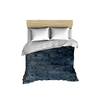 Cool Blue Brick Comforter