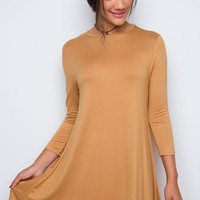 Shop Priceless Maeve Dress - Camel