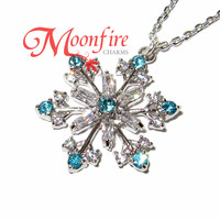 FROZEN Elsa Elegant Intricate Snowflake Necklace