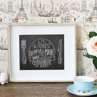 Fondest Memories are Made When Gathered Around the Table - Print