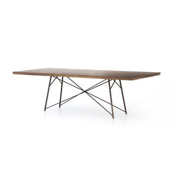 Rocky Dining Table in Natural Saman – BURKE DECOR