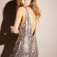 Free People Fool's Gold Sequin Romper