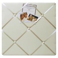 "Twill French Memo Board - Ivory (17x20"")"