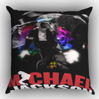 Michael Jackson Zippered Pillows  Covers 16x16, 18x18, 20x20 Inches