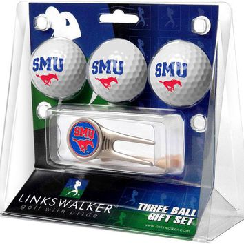 Southern Methodist University Mustangs Cap Tool 3 Ball Gift Pack