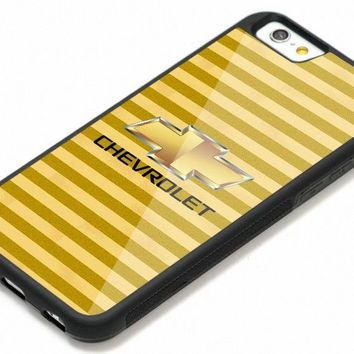 Chevy Chevrolet Gold Logo Design iPhone7 7+ 8 8+ X Hard Plastic Protect Case