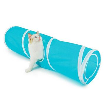 Pet Toy Breathable Folding Spiral Cat Tunnel