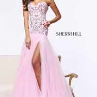 Tulle Skirt Gown by Sherri Hill