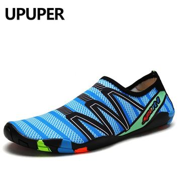 Men Sneakers Shoes For Swimming Outdoor Pool Beach Barefoot Shoes Women Fishing Aqua Water Shoes Diving Wading Big Size:35-46