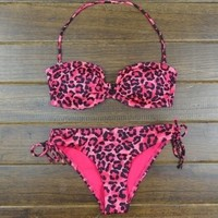 tourtown — V collar sexy leopard bikini | Love beauty share beauty