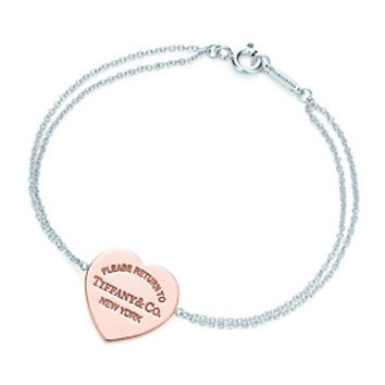 Tiffany & Co. -  Return to Tiffany™ heart bracelet in RUBEDO™ metal and sterling silver, medium.