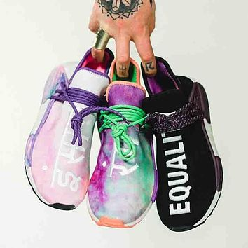 a520d2fa8 Adidas x Pharrell Williams Hu Holi NMD Rainbow Tie-dye sneakers