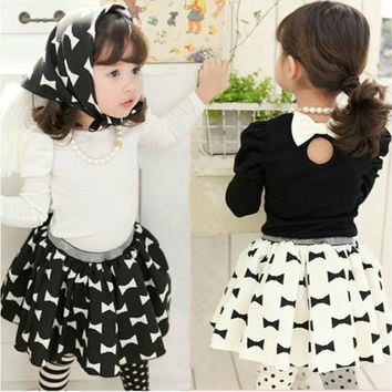 Kids Toddler Girls Clothes Tutu Dress Skirt Outfits Sets (Size: 2-3 Years, Color: White) = 1946175364