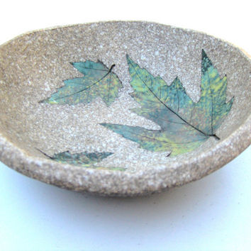 Vintage Maple Leaf Pottery Bowl