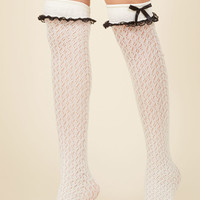 Flirty Tricks Thigh Highs in Ivory