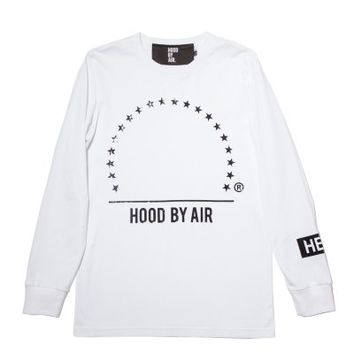 Hood By Air Paramont 2 Long Sleeve (White/Black) - RSVP Gallery