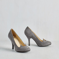 Quirky Mew and Me Forever Heel in Slate by T.U.K. from ModCloth