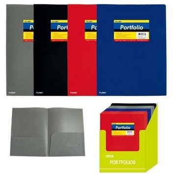 Poly Portfolio Folder with Two Inner Pockets (Style #27D)