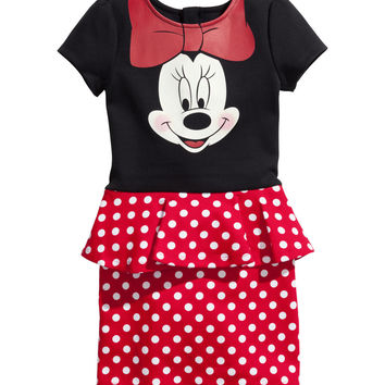 H&M - Jersey Dress - Black/Minnie Mouse - Kids