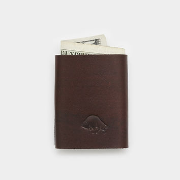 Bison Cash Fold Wallet - Malbec