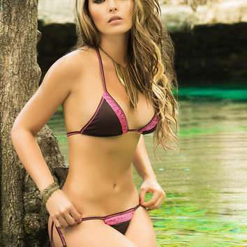 Tie Side Thong Bottom Bikini-Colombian Swimwear