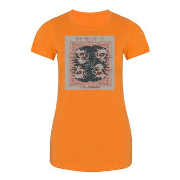 XIII LA MUERTE TAROT Misses Fitted Short Sleeve Tee Combed Ringspun