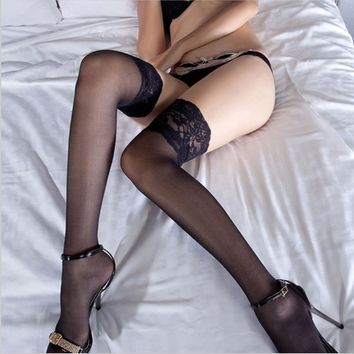 Thigh High Stocking Women Summer Over The knee Socks Bas Femme Hosiery Nylon Lace Style Stay Up Stockings Plus Size