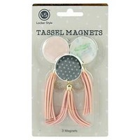 Locker Style™ Tassel Magnets, 3ct - Blush/Grey/Blue : Target