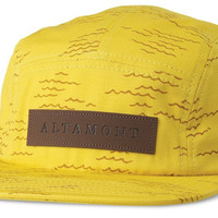 Altamont Wavy Camp Hat Yellow, One Size