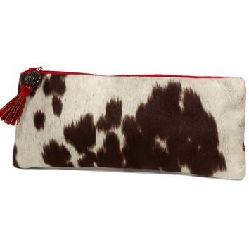 Brown Faux Cowhide Bag