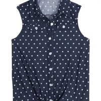Sleeveless Polka Dot Knit Shirt | Shop Justice