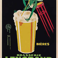 Brasserie Lengrand Vintage Ad Poster by Phy