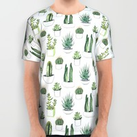 watercolour cacti and succulent All Over Print Shirt by Vicky Webb | Society6