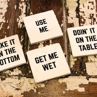 Crude And Rude - SET OF 4 COASTERS