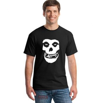 SHIRT THE MISFITS Punk Rock band Skull T Shirt Mens Casual Short Sleeve Printed T-shirts  - Plus Size Available