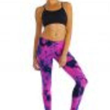 Pink and Black Tie Dye Yoga Pants